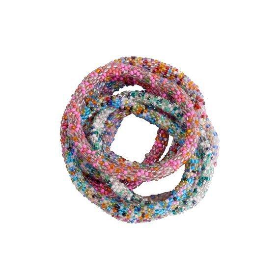 Multi Nepal perle armbånd / roll on bracelet