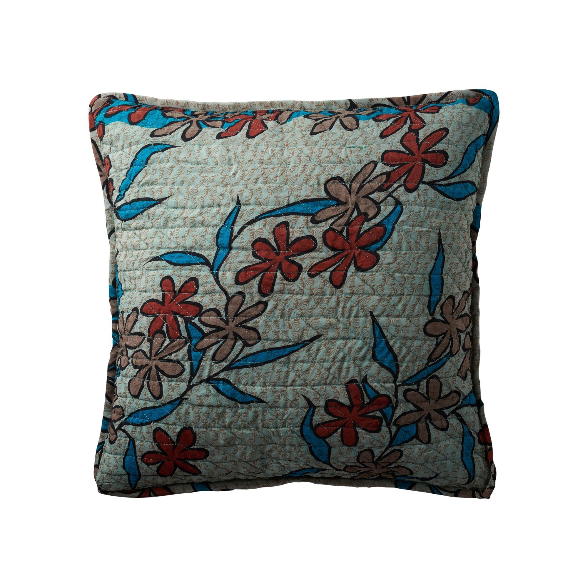 Quiltet silk cushion cover 50×50