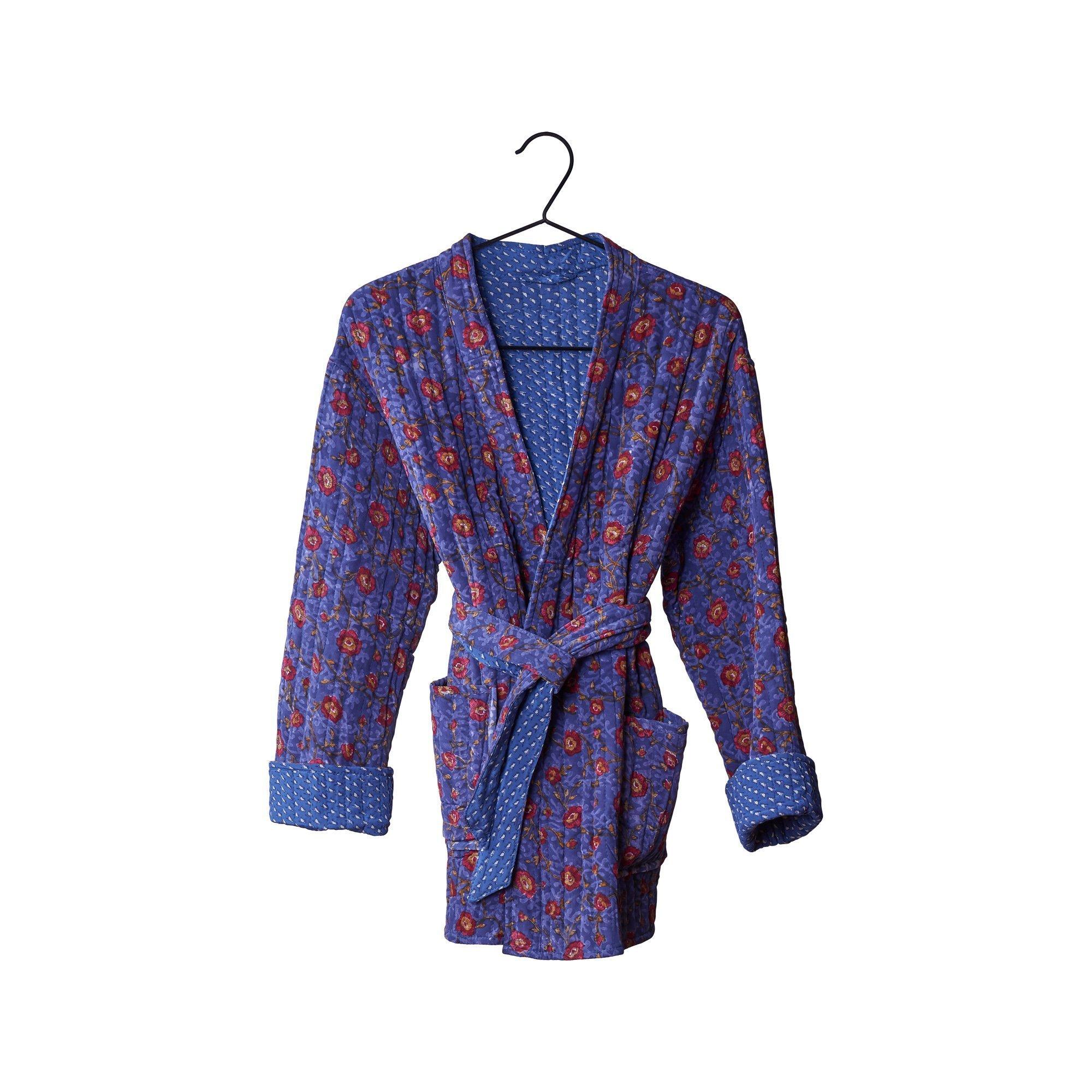 Quilted Silke kimono jakke