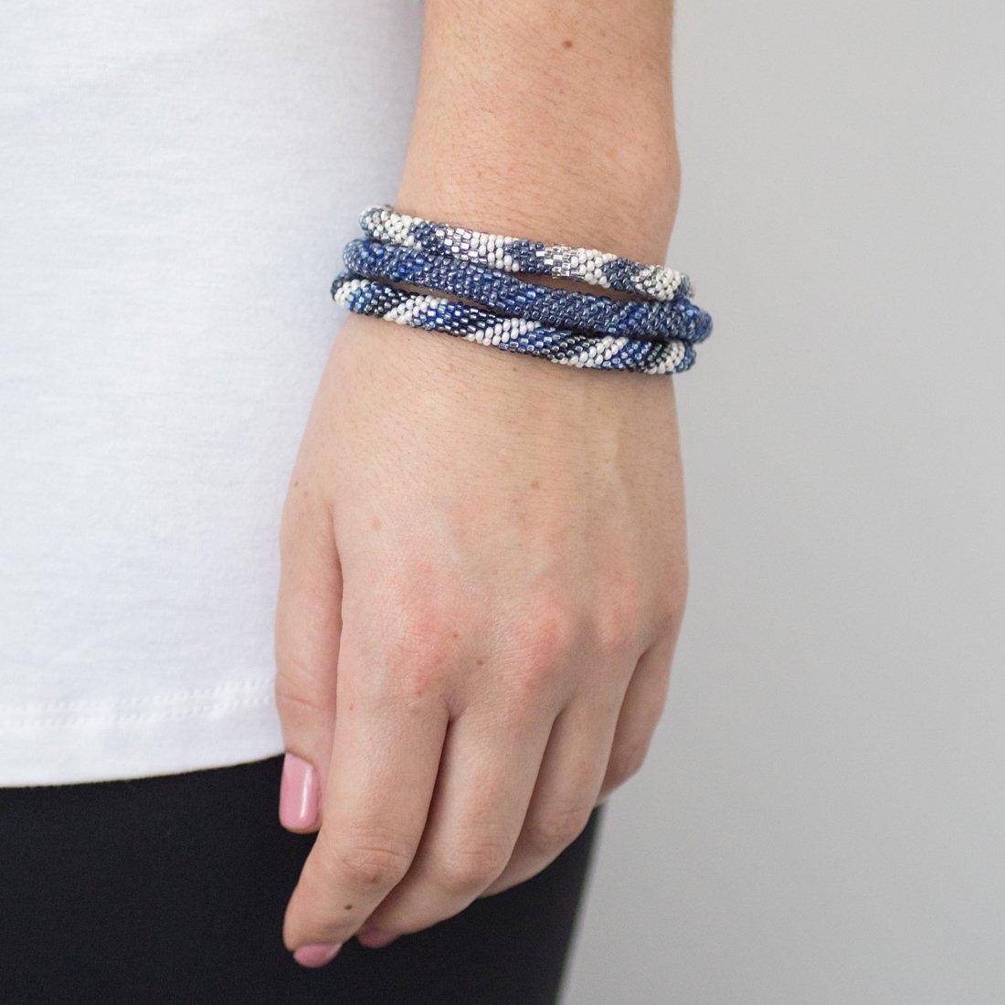 3 sæt Perle armbånd Denim
