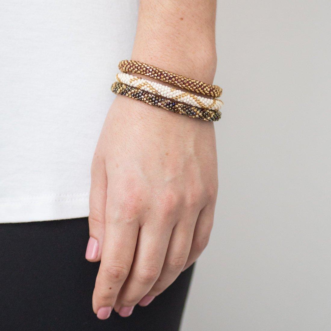 3 sæt Perle armbånd Latte