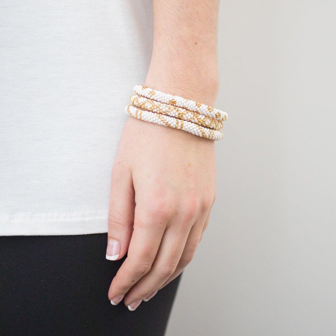 3 sæt Perle armbånd Gold