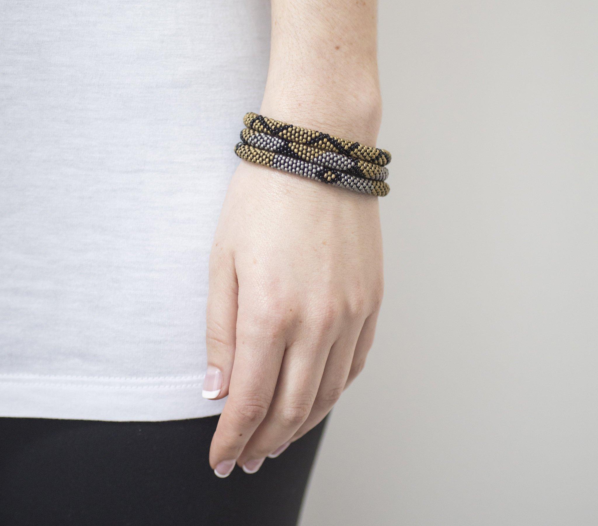 3 sæt Perle armbånd Safari