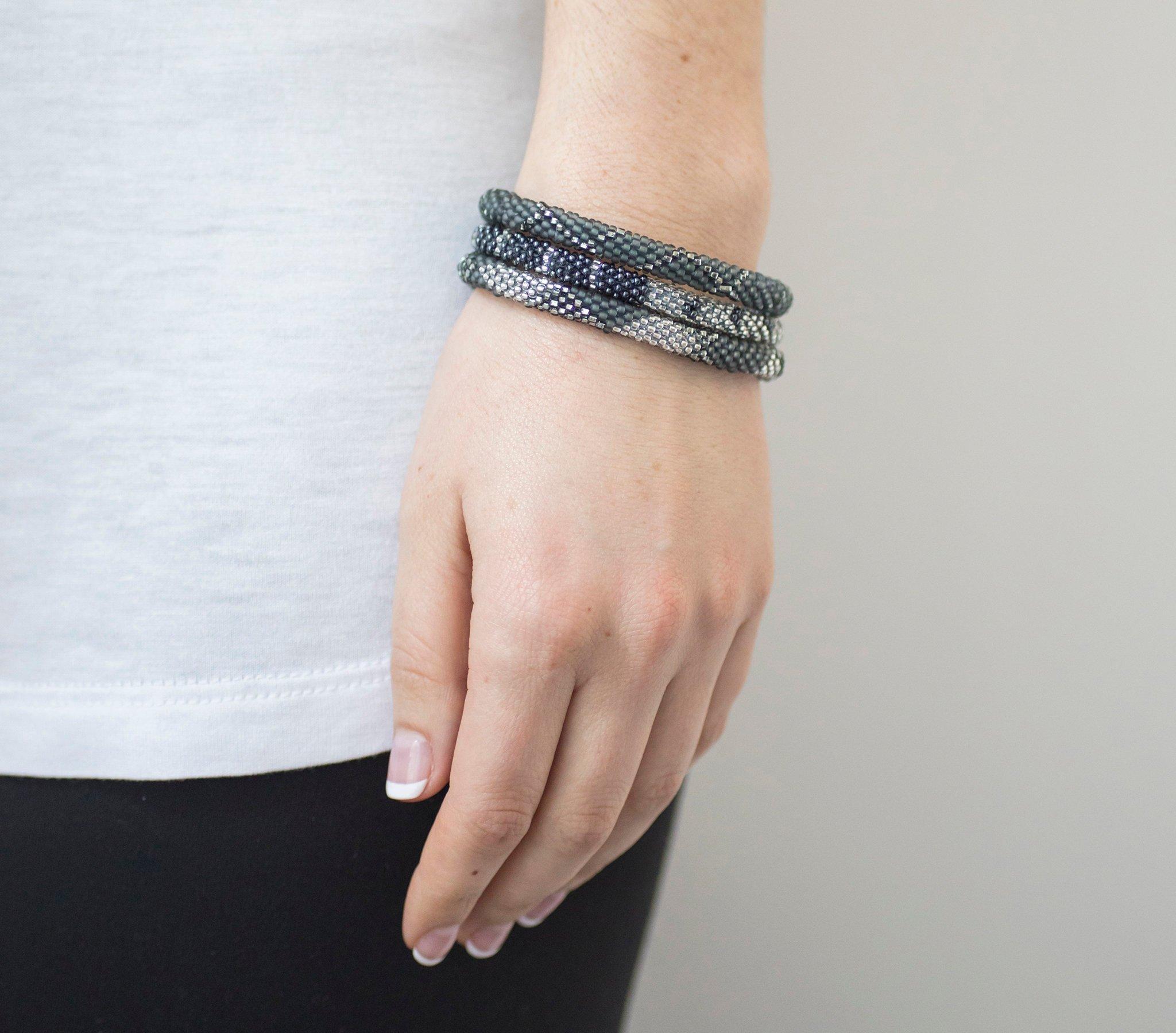 3 sæt Perle armbånd Grey